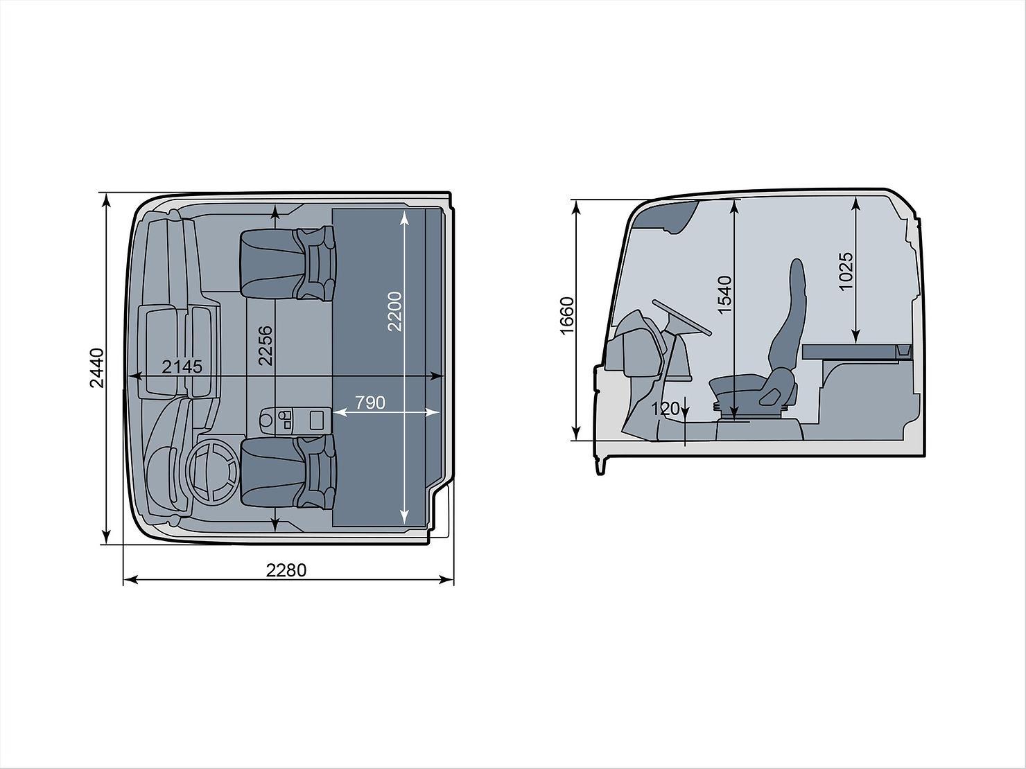 Кабина MAN XL (схема)