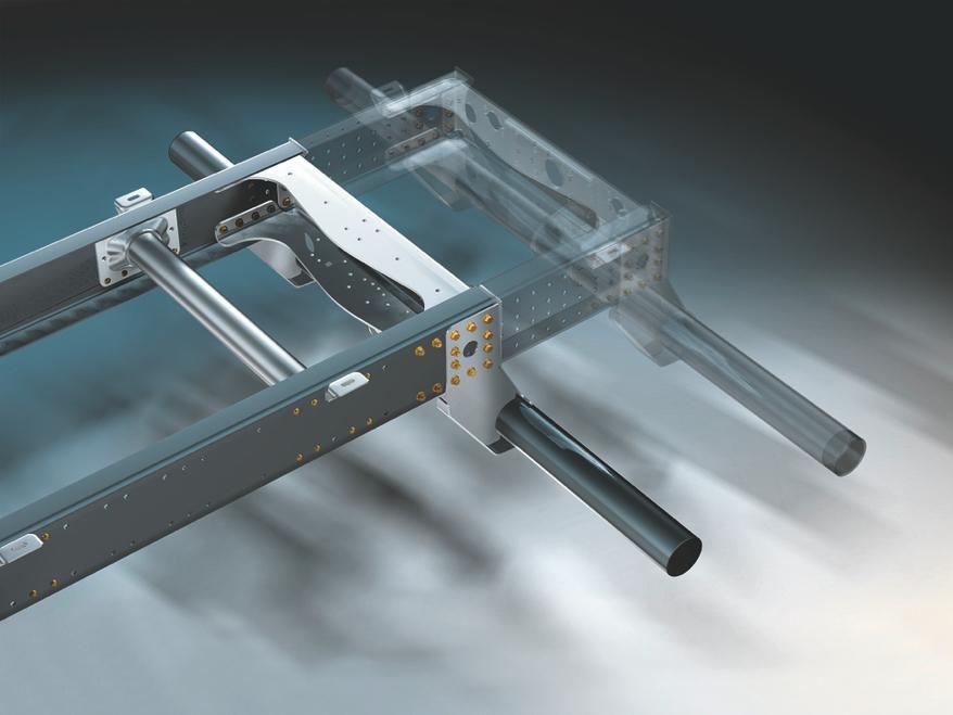 Конструкция рамы, подходящая для установки дополнительного оборудования MAN TGM